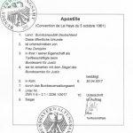 Haager Apostille - Hier ausgestellt vom Bundesverwaltungsamt