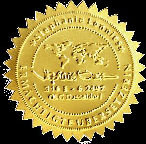 Das goldene Prägesiegel ist bei SL·Translations nicht das einzige Special Feature, das dieses Online-Übersetzungsbüro für beglaubigte Übersetzungen von anderen abhebt!