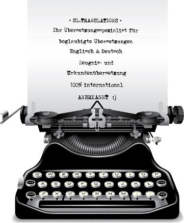 Beglaubigte Übersetzung und Formatierung: das Layout Ihrer Urkunde wird hier möglichst 1:1 nachgebildet