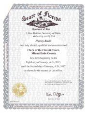 Überbeglaubigung als Vorbeglaubigung für eine Apostille aus Florida (USA) für einen Scheidungsbeschluss