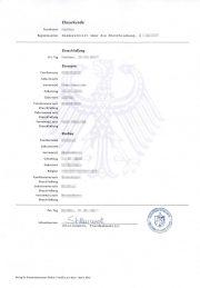 Muster: Deutsche Eheurkunde bzw. Heiratsurkunde (Hochformat A4)